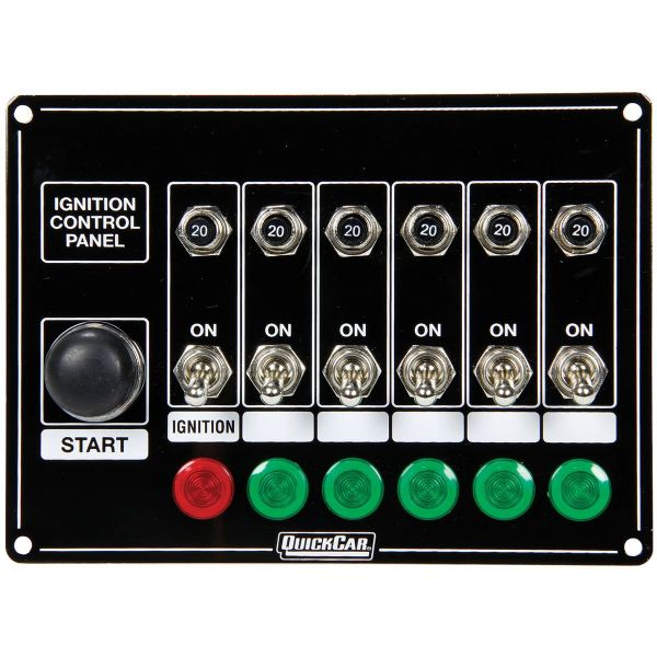 QuickCar 6 Switches & 1 Button w/Lights & Circuit Breakers